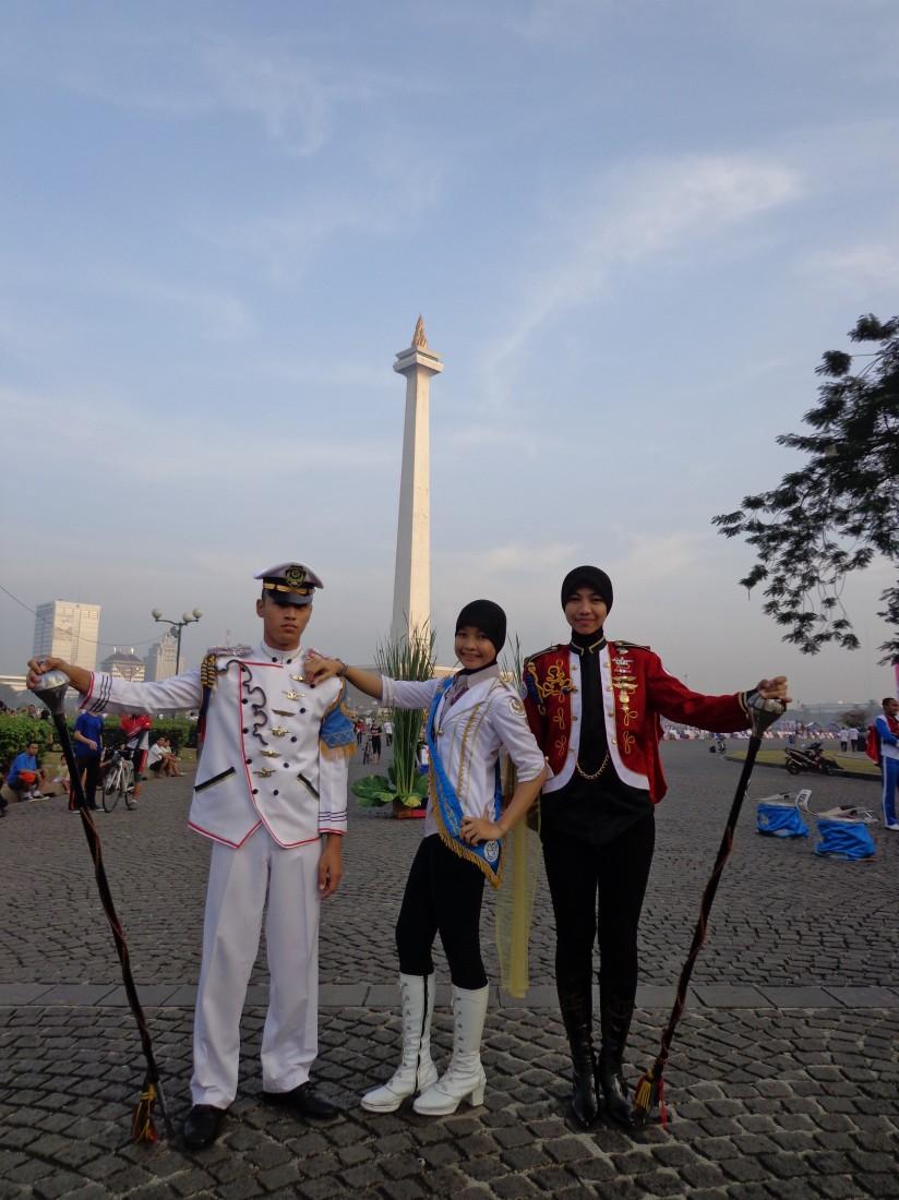 Mayoret Genta Bahana Samudra Sekolah Tinggi Perikanan dalam Jalan Sehat Golden year 50 Th. AUP/STP, Ahad, 15 Juli 2012 di Monas-Jakarta